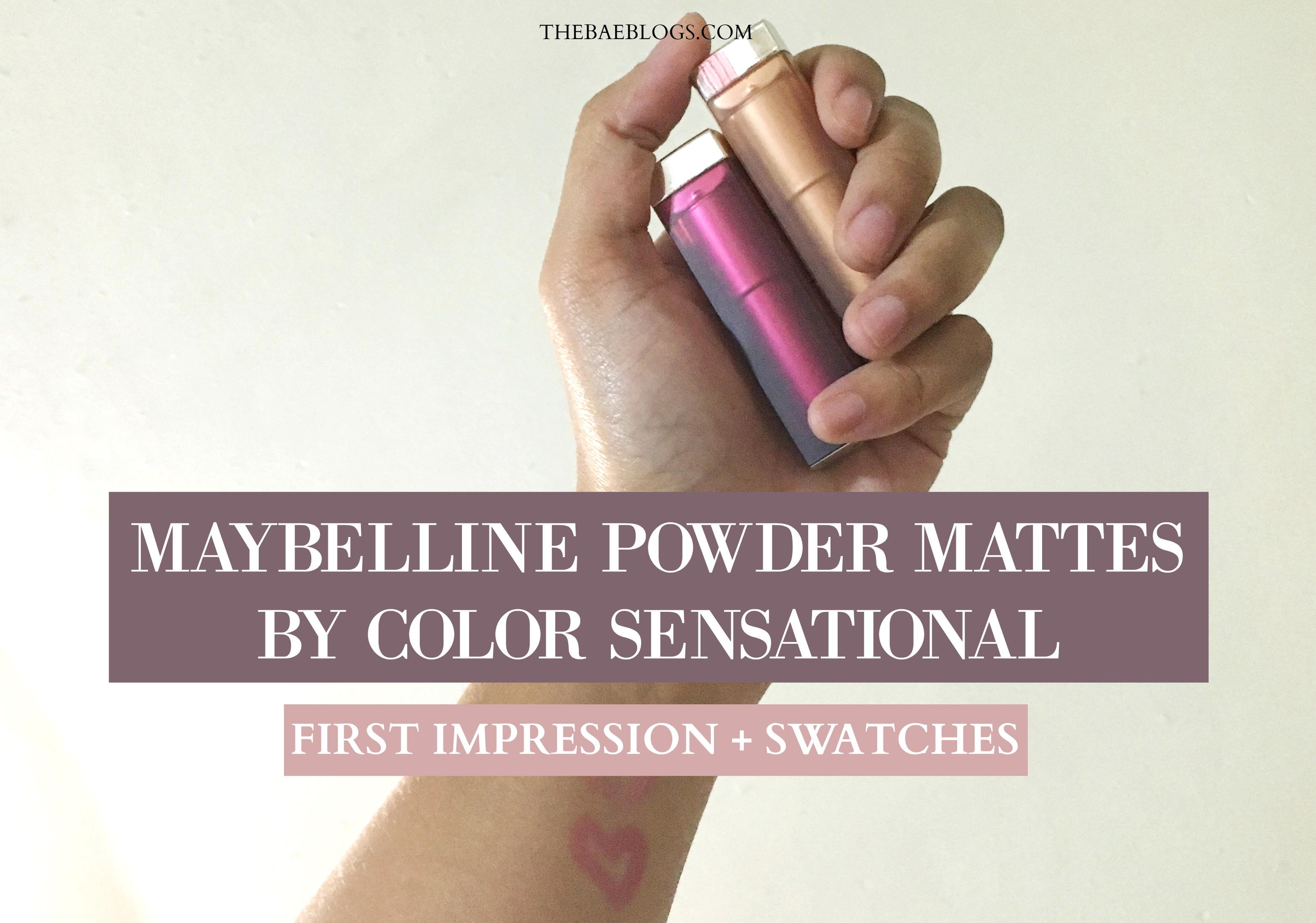 Maybelline Powder Mattes by Color Sensational: First Impression + Swatches